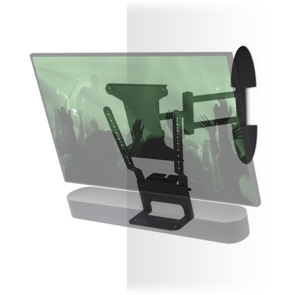 Flexson Beam Cantilever tot 40 inch Audio muurbeugel Zwart