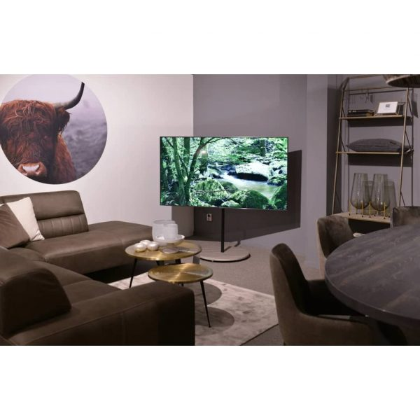 """Xtrarm Arius Tv Standaard Grijs Houtprint 32-65"""" Vesa400 X 400 35 Kg"""