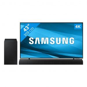Samsung Crystal UHD 43AU8000 (2021) + Soundbar